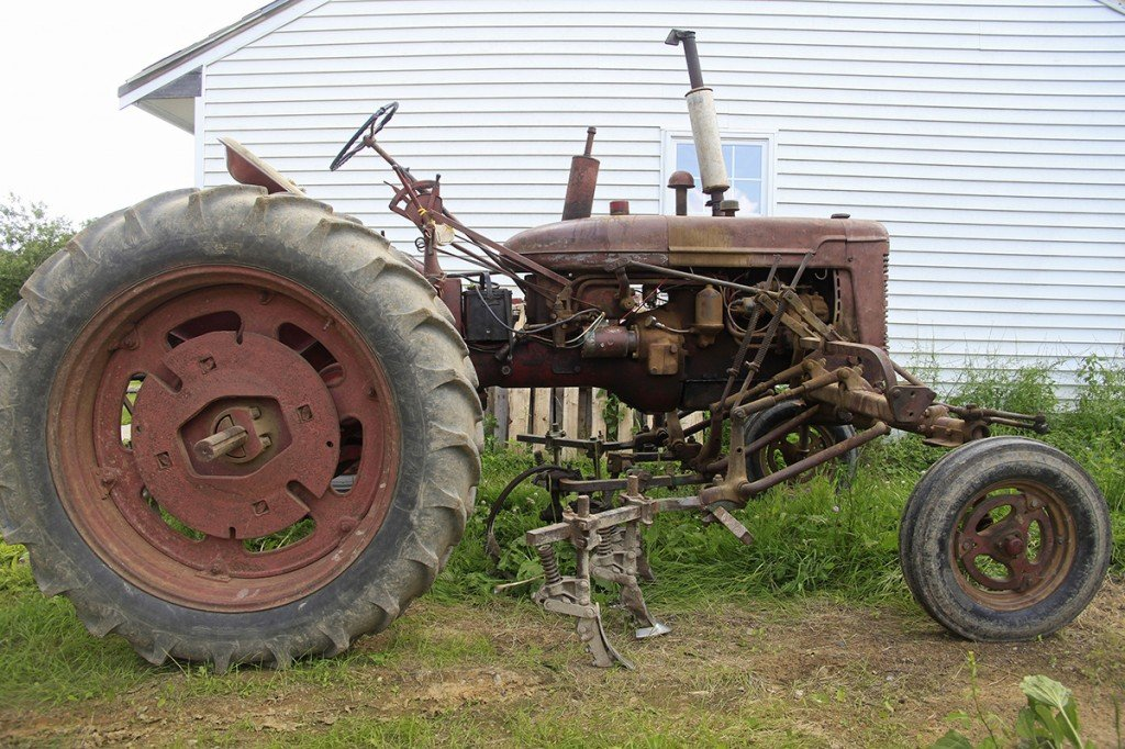 Baer uses this 1948 Farmall Model C tractor every day for light duty work as he farms heirloom beans.