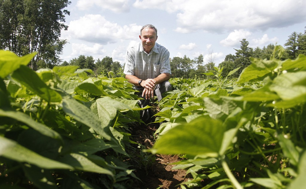 Charley Baer of South Berwick grows heirloom beans and uses antique equipment to sort and process them.