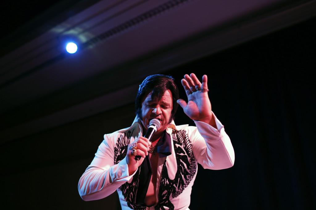 Tony Freitas, of Oakdale, Calif., performs during the Las Vegas Elvis Festival in Las Vegas, in this July 12, 2014, photo.