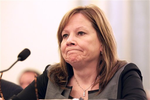 GM CEO Mary Barra testifies on Capitol Hill in Washington on Thursday. A Senate Commerce subcommittee hearing is examining accountability and corporate culture in wake of the GM recalls. The Associated Press