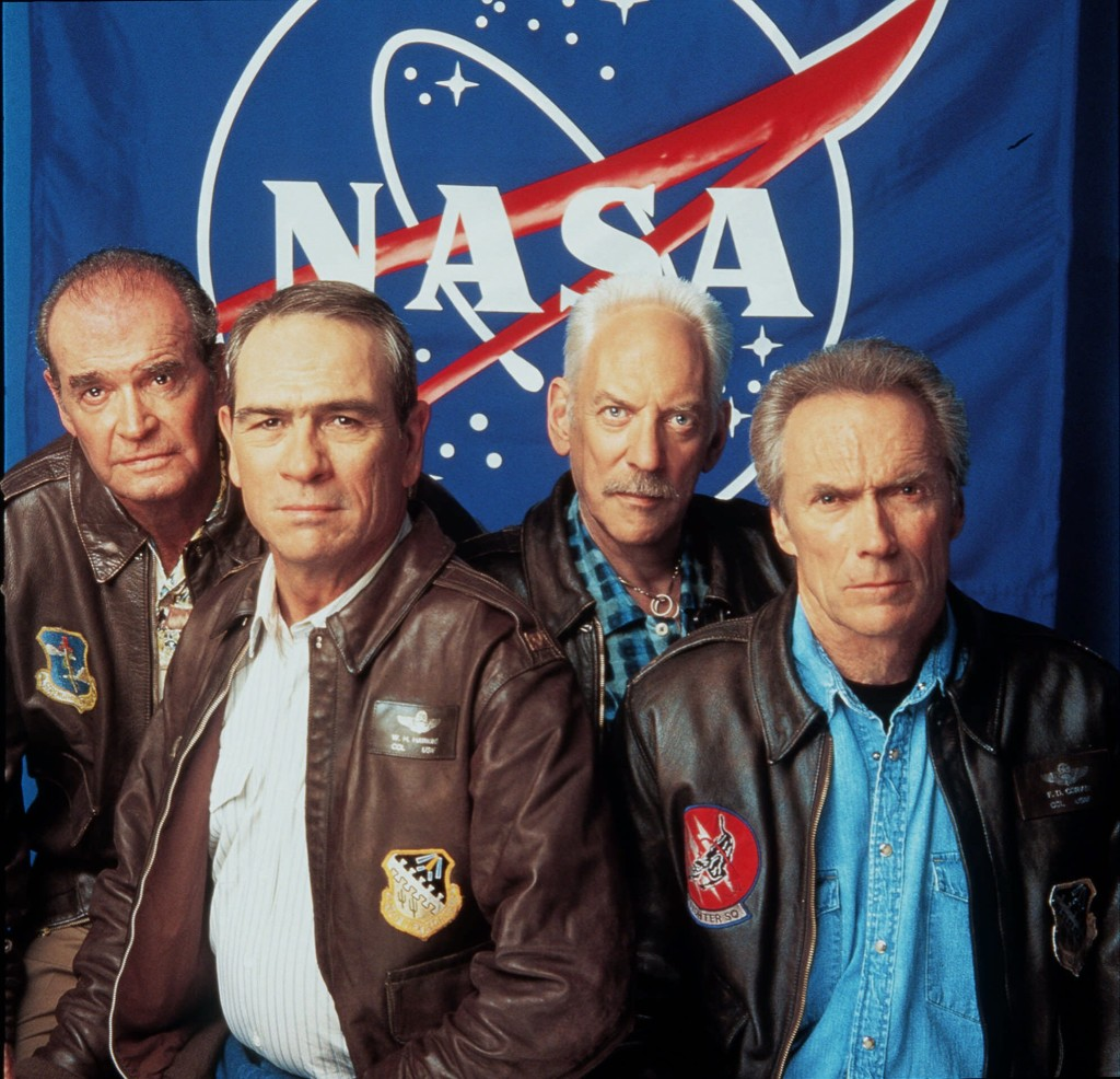 """From Left: James Garner, Tommy Lee Jones, Donald Sutherland and Clint Eastwood pose for Warner Brothers Pictures' """"Space Cowboys"""" in this July 2000  photo.  The Associated Press"""