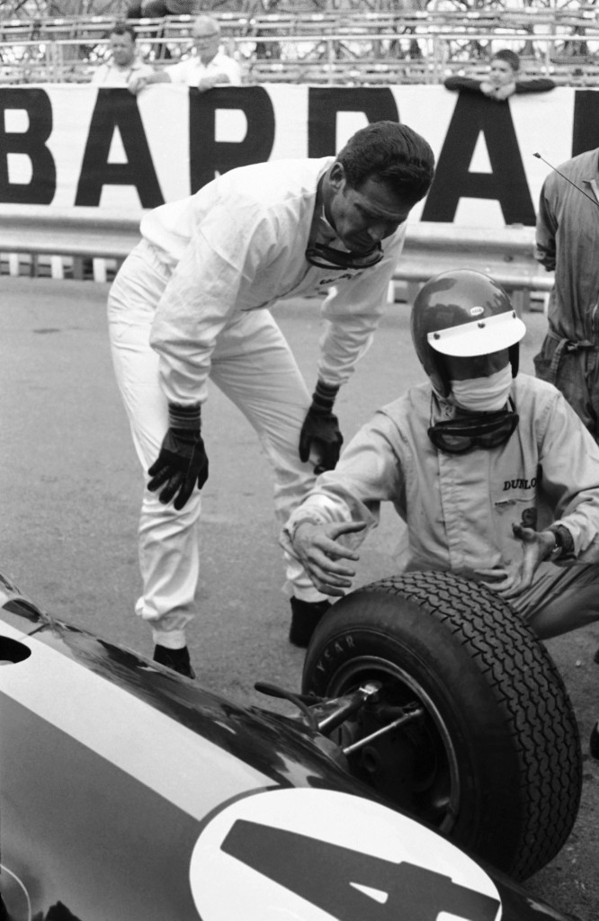 """James Garner, left, plays a scene for MGM's """"Grand Prix,"""" which has cars racing through the streets of Monte Carlo in this June 14, 1966  photo. The Associated Press"""