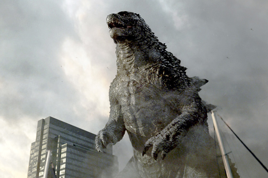 "This shows Godzilla in a scene from Hollywood's ""Godzella"" released by 2014 Legendary Pictures Funding, LLC and Warner Bros. Entertainment Inc."