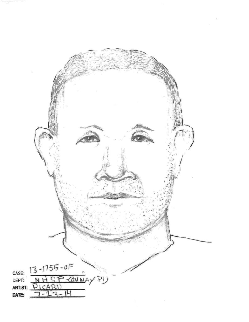 Police in New Hampshire are seeking the identity of the man in this sketch in connection with the nine-month disappearance of Abigail Hernandez.