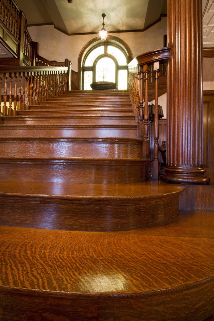 The grand staircase of Portland's West Mansion  are among the elegant interior details of the the 13,674-square-foot residence that boasts 24 rooms, including nine bedrooms and 5½ baths. Carl D. Walsh / Staff Photographer