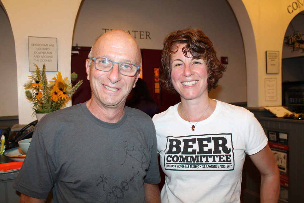 Peter Bass, St. Lawrence Arts board member, with Julia Kirby, director of development for the arts center housed on Portland's Munjoy Hill.