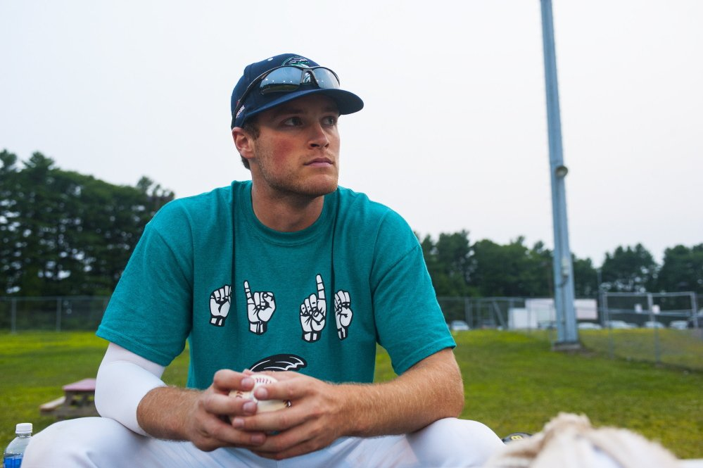 Lincoln Sanborn is back pitching with St. Joseph's College and the Old Orchard Beach Raging Tide, but only after wondering for months what was wrong before undergoing Tommy John surgery and missing a year.