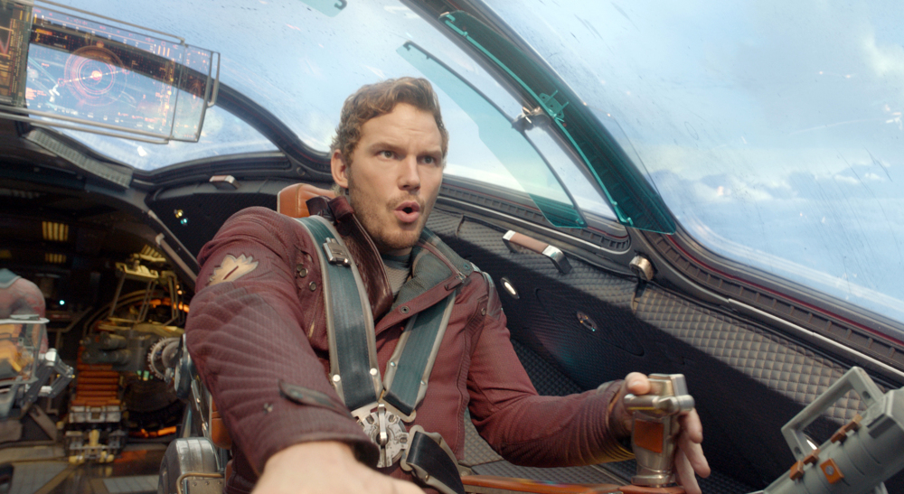 """In """"Guardians of the Galaxy,"""" actor Chris Pratt plays Peter Quill, an American pilot who becomes the target of an unrelenting bounty hunt after stealing a mysterious orb."""