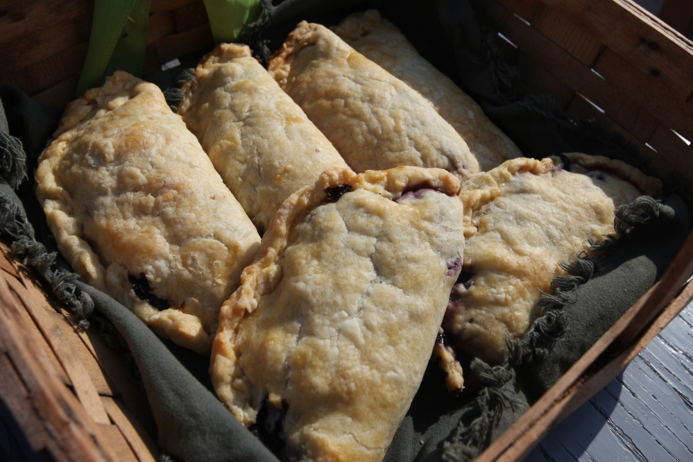 A basket of Reilly Harvey's blueberry hand pies on Andrews Island.