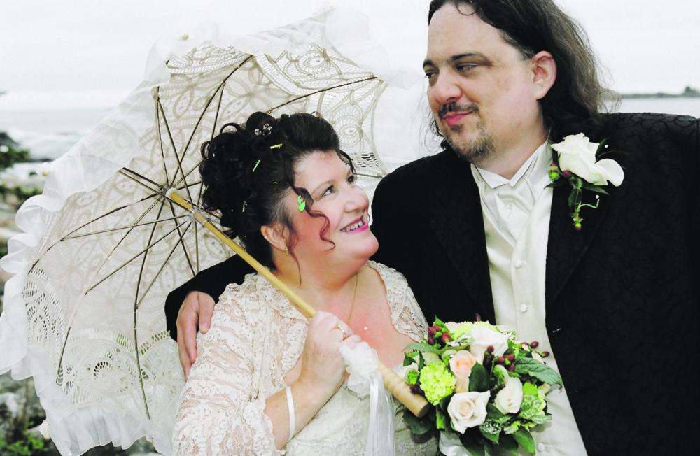 Andrew Ian Dodge with his wife, Kim. Bob Mitchell photo