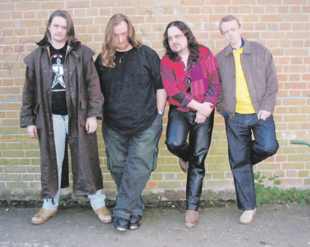 Dodge with his band.