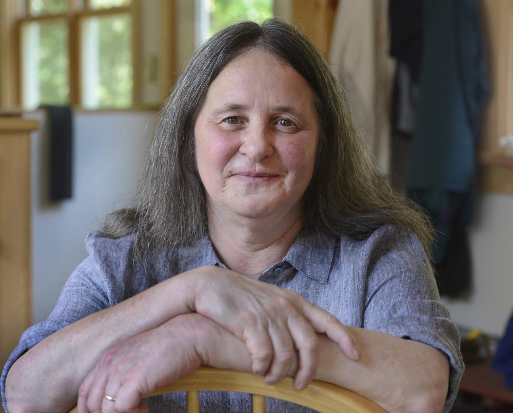 Author Ellen Cooney at her home in Phippsburg.