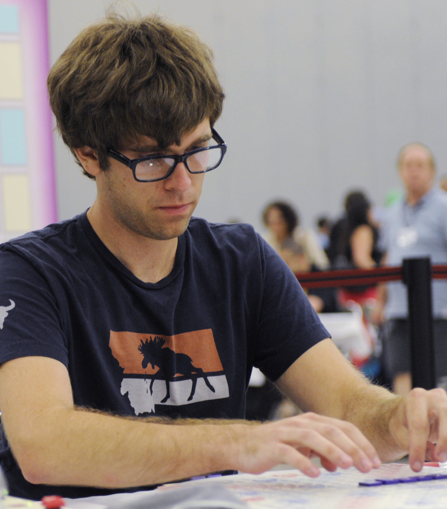 """Conrad Bassett-Bouchard opens with """"zilch"""" Wednesday at the 25th National Scrabble Championships in Buffalo, N.Y."""
