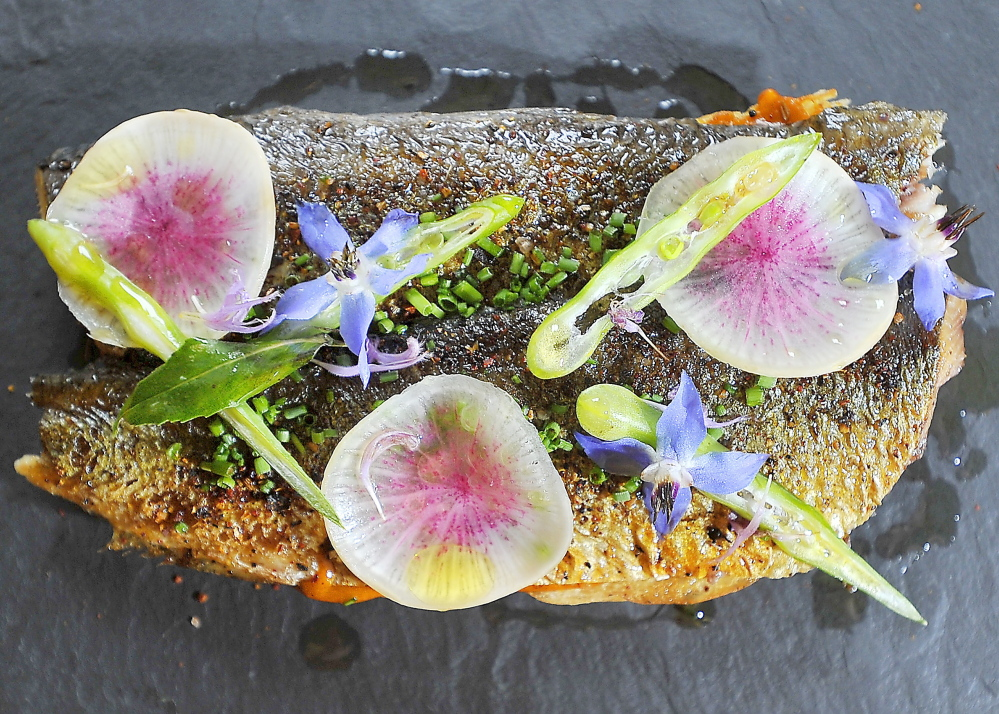 Grilled Maine Sardine Crostini with Harissa
