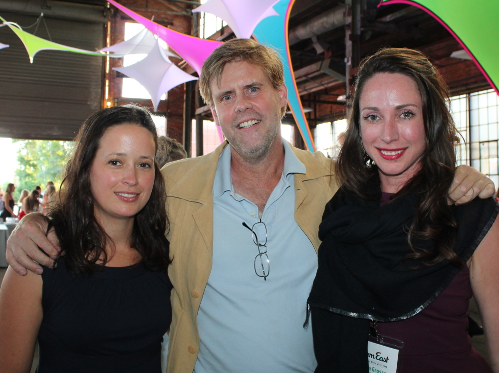 Carly Cope of Maine Mead Works joins artist Donald Rainville and Le Anna Grosso, marketing design manager for Down East at the magazine's 60th anniversary party in Portland. Margaret Logan photo
