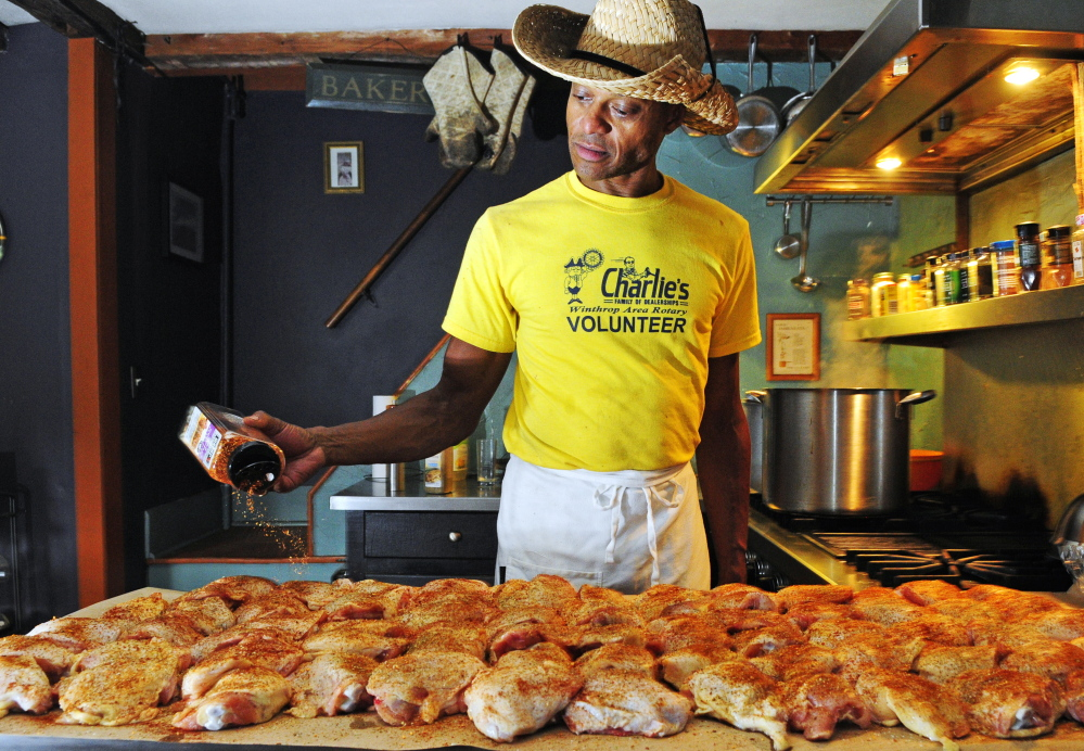 Hickman seasons chicken. The Democratic state legislator and chairman of the Rotary Foundation said all the money from Saturday's fundraiser will go toward hunger relief.