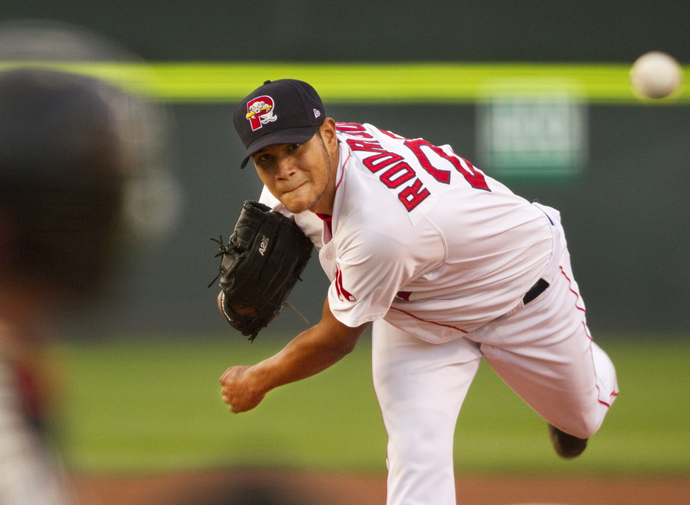 Eduardo Rodriguez continued his string of strong starts Friday night for the Portland Sea Dogs, allowing eight hits over six innings but with no walks and seven strikeouts in a 5-1 victory against the Richmond Flying Squirrels.
