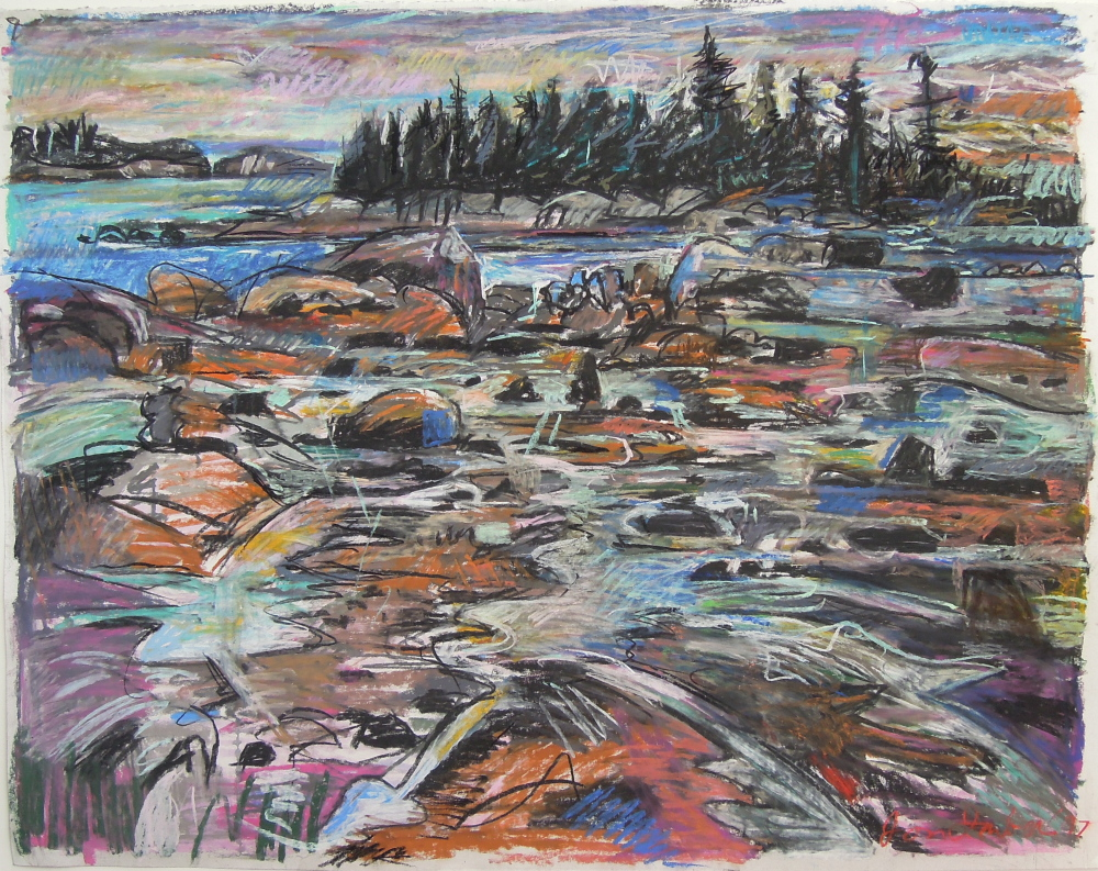 """Above, """"Sunset, Fifield Point,"""" 1997"""