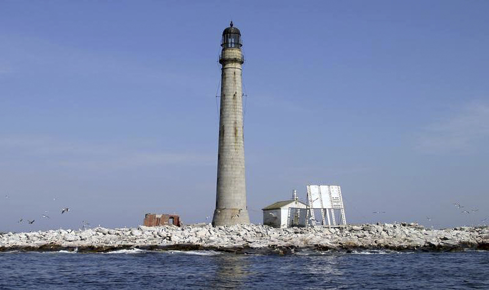 Boon Island Light Station sits in the Gulf of Maine about six miles off the coast of York. The lighthouse, New England's tallest at 133 feet, is up for auction.
