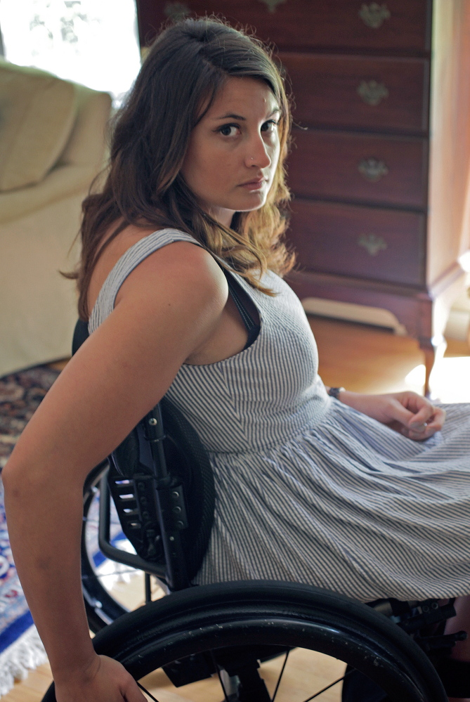 """""""I wouldn't wish this (burn injury and the aftermath) on my worst enemy,"""" Emma Verrill said recently during an interview at her parents' home in Yarmouth."""