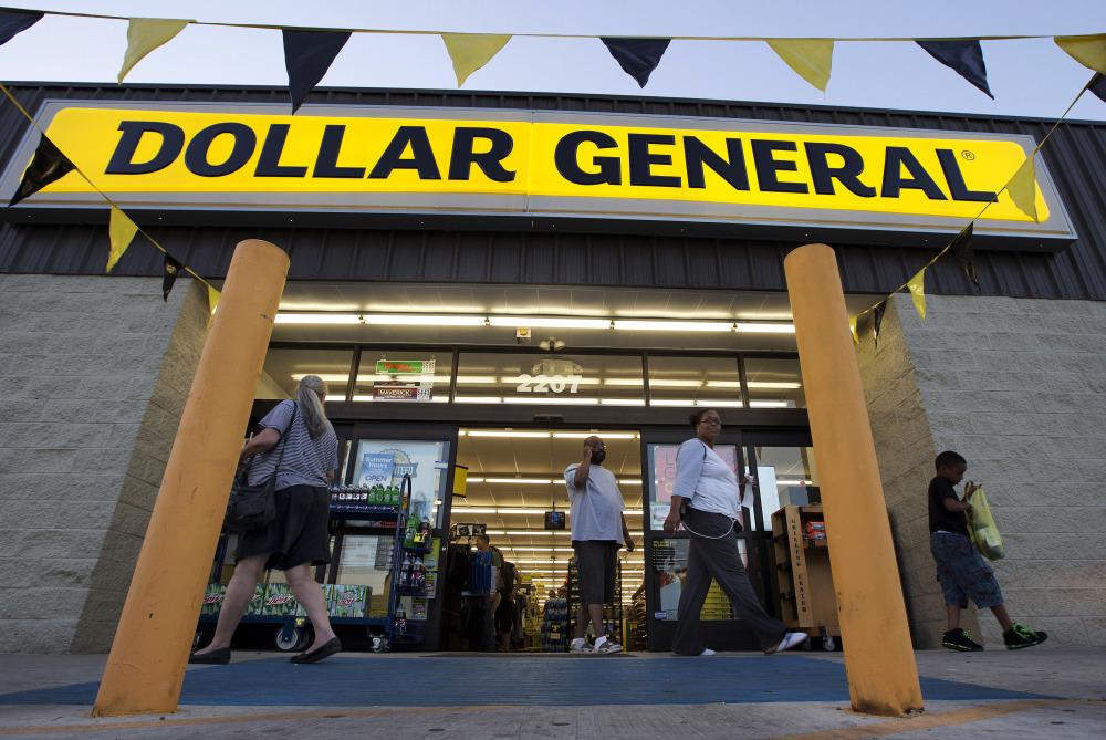 Customers exit a Dollar General store in San Antonio.