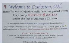 "An Ohio man – who uses a biblical reference and a statement against ""poisoned waters"" on billboards in Coshocton –  is fighting a legal threat from the deep-injection wells' owner on grounds that he's exercising his free speech."