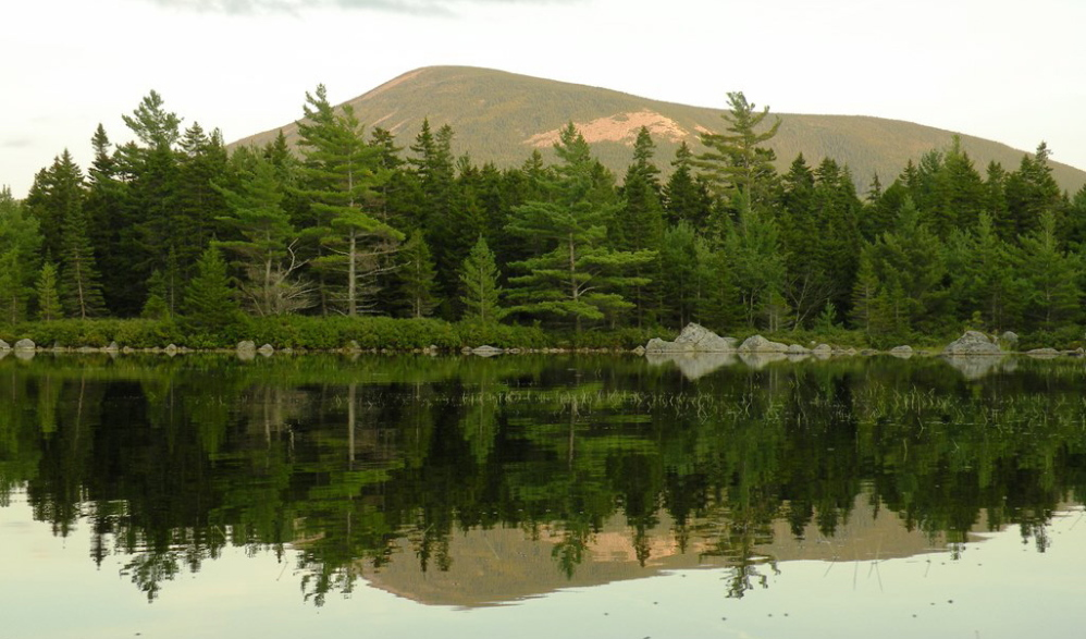 """Russell Pond, right in the center of Baxter State Park, gives a """"sense you're really far away from it all,"""" according to the park director."""