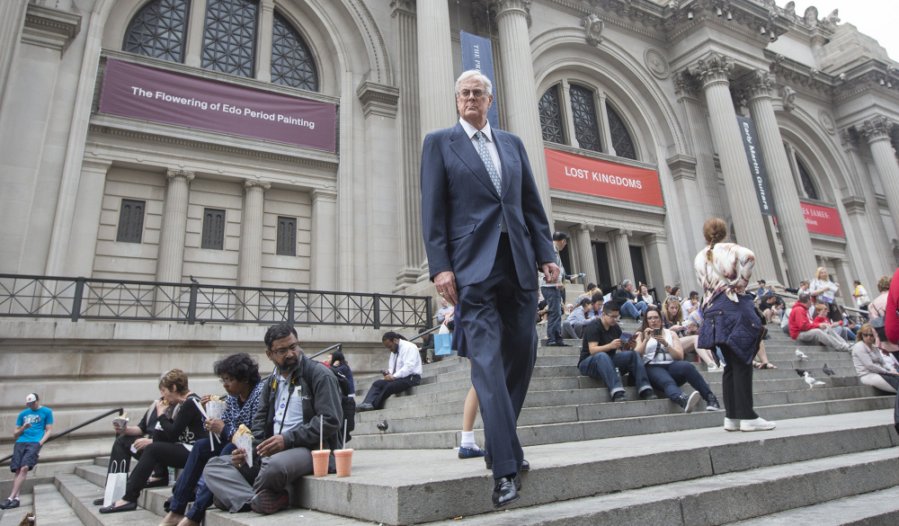 Literally a fixture in New York City, David Koch – shown outside the Metropolitan Museum of Art – may be equally passionate about culture and politics, giving generously to nonprofits and charities, but also pouring millions of dollars into free-market, business-friendly causes.
