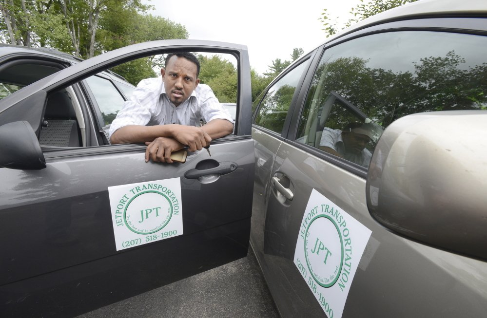 Ilyas Sharif, a veteran cabdriver and Portland jetport permit holder, says he's tired of the access controversy.