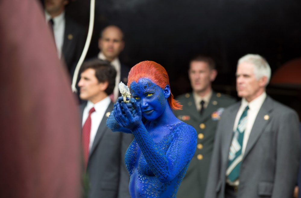 """Jennifer Lawrence as Mystique in """"X-Men: Days of Future Past."""""""