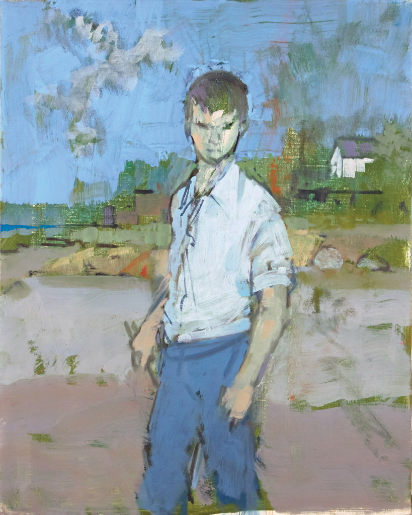 Sketch of a Young Clamdigger, 1990, oil on canvas, 20 x 16 inches