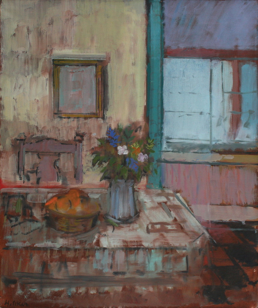 The Dining Room, 1990, oil on canvas, 24 x 20 inches