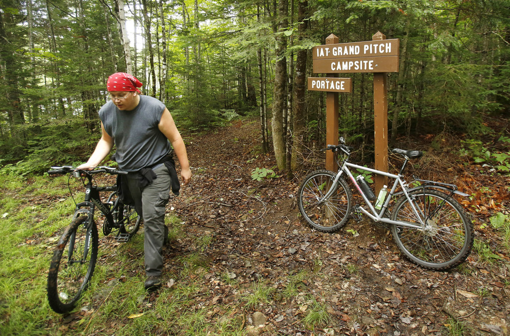 Biking the east branch of the penobscot river the for Portland maine bike trails