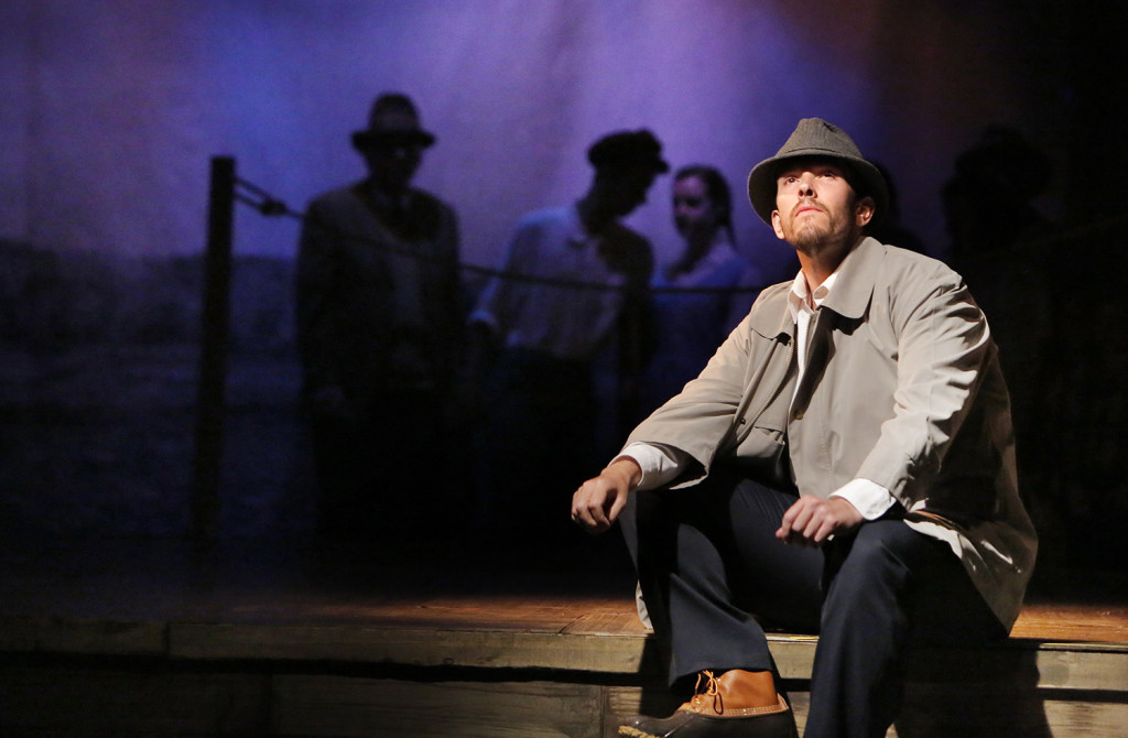 """Jason Martin plays the role of Charlie Scott, a ferryman who brings people between Deer Isle and the mainland in the play """"The Last Ferryman"""" at the Stonington Opera House. The play, based on historical events, looks at the conflicting attitudes of islanders during the 1930s when an effort to build a bridge to Deer Isle gained momentum."""