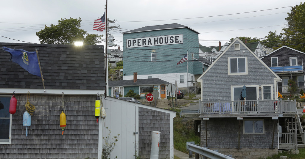 The Stonington Opera House stands out as a center for culture and arts in downtown Stonington.