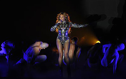 Beyonce performs at the MTV Video Music Awards at The Forum in Inglewood, Calif., on Sunday. The Associated Press