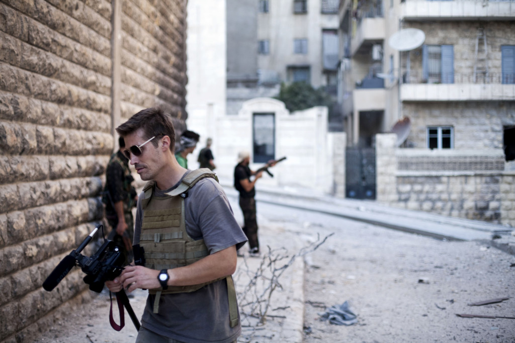 Slain American journalist James Foley is shown in Aleppo, Syria.