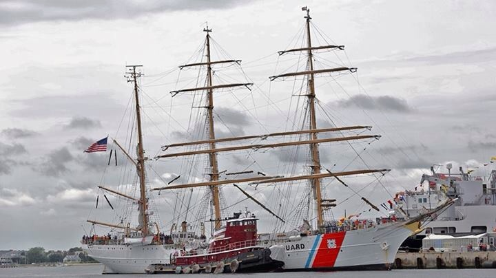 The Barque Eagle is scheduled to arrive in Rockland at 4 p.m. Friday. U.S. Coast Guard photo
