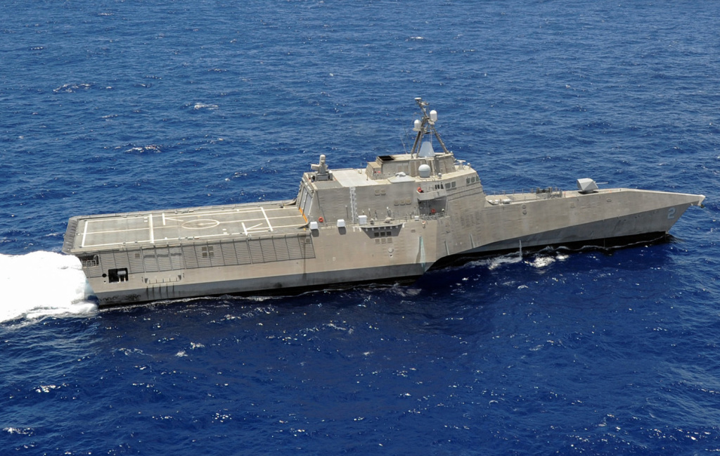 The littoral combat ship USS Independence (LCS 2) is underway during a military exercise this year. The littoral combat ship program has come under persistent criticism about its cost and viability.