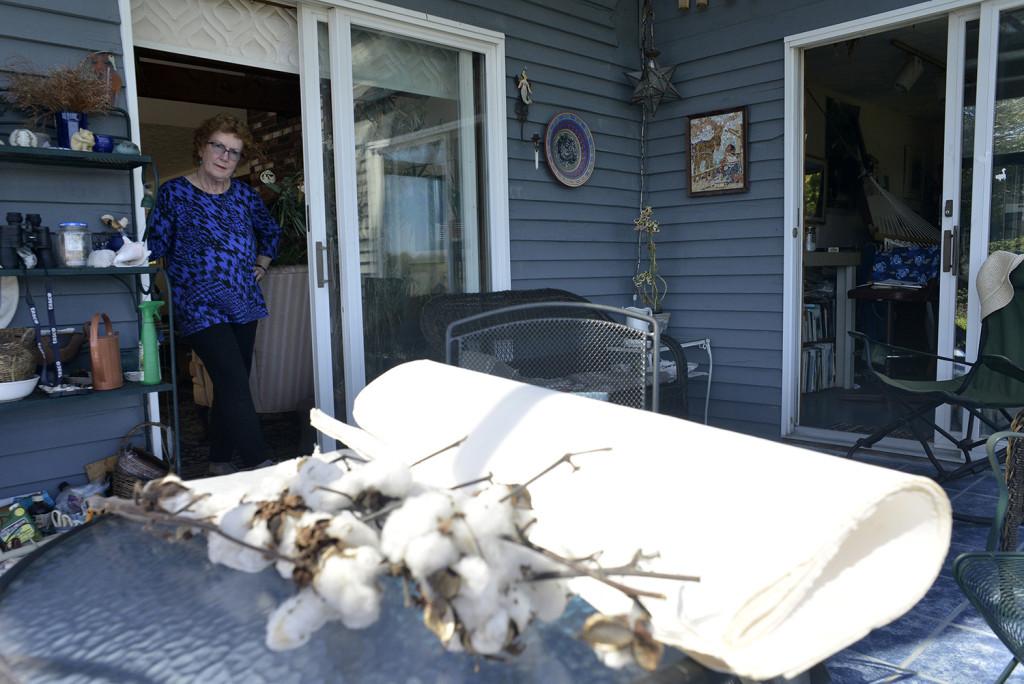 Beaten rag and cotton at Widgeon Cove Studios. Kuhl uses the  beaten rag and cotton linter to make paper.