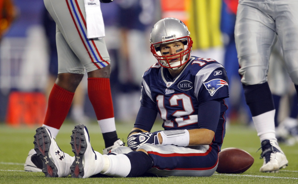 Tom Brady was sacked 40 times last season and, bottom line, that was unacceptable and led to one of his not-so-great seasons.