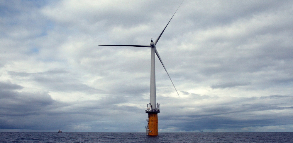 Offshore wind turbines, like this experimental one off the coast of Norway, could start popping up off the New England coast. One wind advocate says technological advances already in place in Europe – like larger, more powerful turbines – will help bring the cost of offshore wind power down.