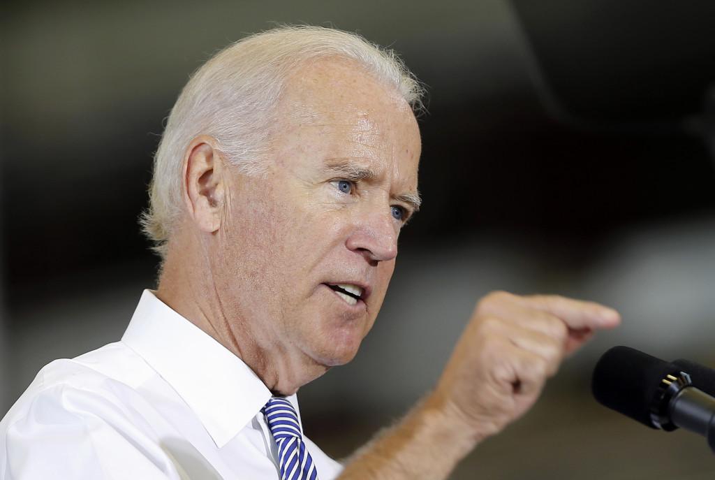Vice President Joe Biden speaks about the killing of journalist Steven Sotloff while visiting the Portsmouth Naval Shipyard in Kittery on Wednesday.