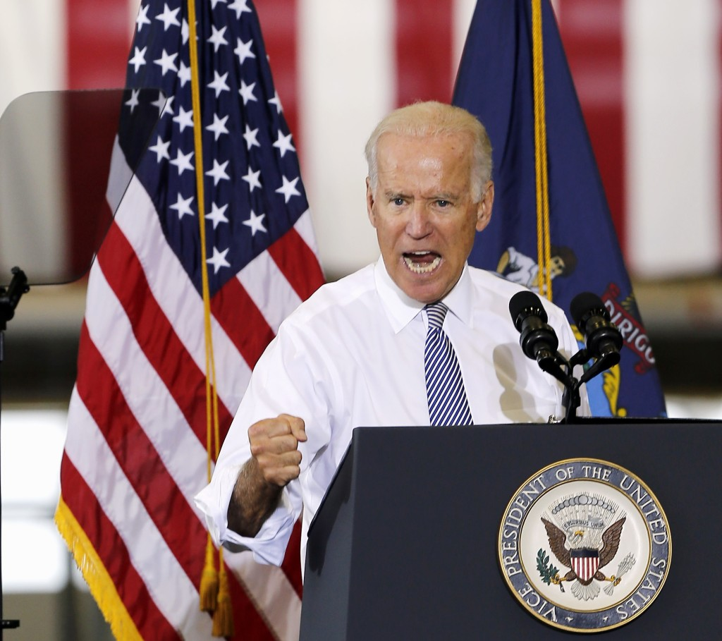 """Vice President Joe Biden vowed to follow """"to the gates of hell"""" the terrorists who killed two American journalists, while speaking at the Portsmouth Naval Shipyard in Kittery on Wednesday."""