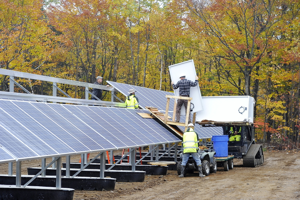 Mount Abram's new panels are expected to generate enough electricity yearly to power 46,000 average Maine homes and offset 70 percent of the ski area's electricity use.