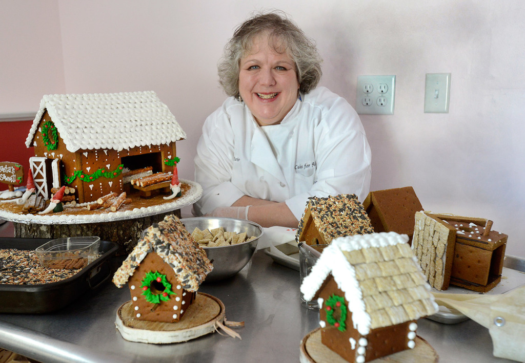 Lisa Mae Parker is a baker who is starting her own home business in Parsonfield called Cakes For All Seasons. Her specialities include a gingerbread saw mill and several bird houses.