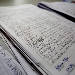 Petitions seeking to place a citizen initiative on the ballot must be circulated by registered Maine voters – but a loophole in the state Constitution allows the actual work of collecting signatures to be done by anyone.