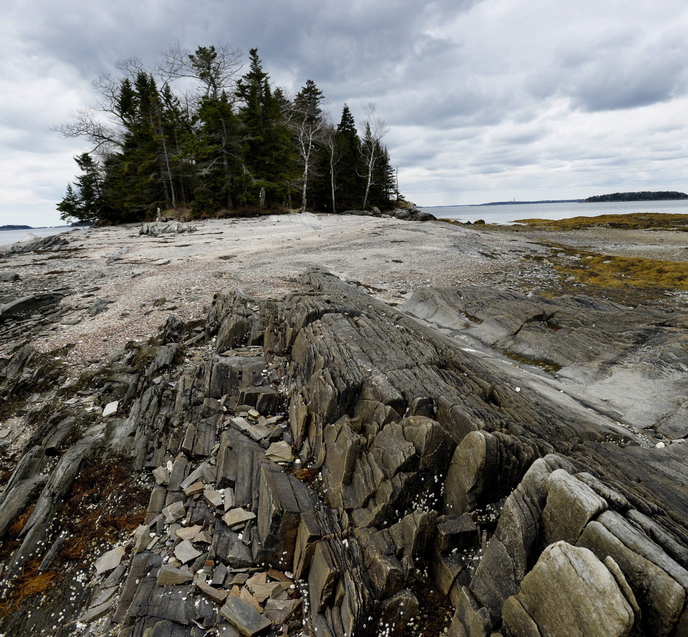 The Maine Coast Heritage Trust, which is adding the Gosling Islands, pictured, in Casco Bay to its conserved lands, would likely be taxed under a state budget plan.