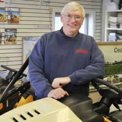 """Bob Waterman is comfortable with the new breed of farmer because, in his view, """"everybody should have a tractor."""""""
