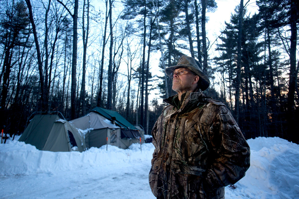 vietnam vet finds a comfort zone by camping out in the winter at bradbury mountain the. Black Bedroom Furniture Sets. Home Design Ideas